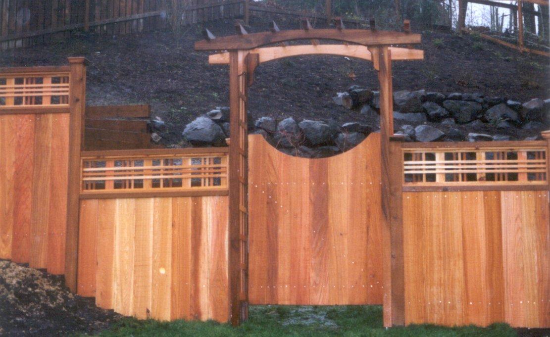 Wood arbor gate plans Aji