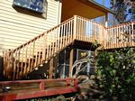 Deck Stairs with Cedar Rails