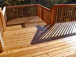 Deck with Cedar Rail