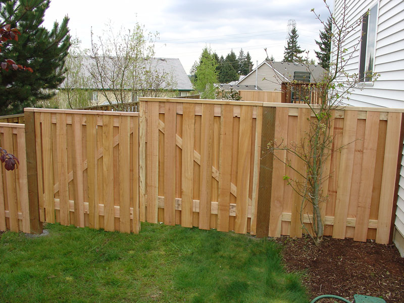 Shadow Box Fence with Lattice Top http://patriotfencecompany.com/id71.html