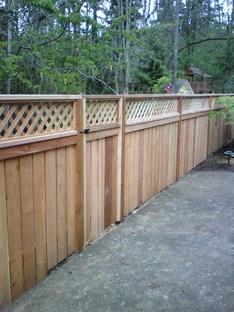 plans to build how to build a lattice fence topper pdf plans. Black Bedroom Furniture Sets. Home Design Ideas