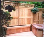 Picture Frame Fence with Catalina Top